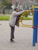 138 - Exercise Park (Man stretching!)